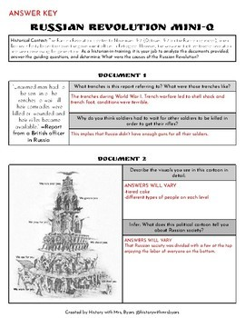 Mini-Q Worksheet: Causes of the Russian Revoltion