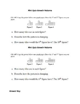 Mini Quiz Linear Growth Patterns