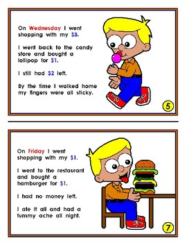 Mini Reader: Cody Goes Shopping (Subtraction & Days of the Week)