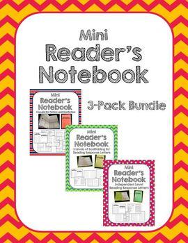 Mini Reader's Notebook Bundle-All 3 Levels (Beginning, Progressing, Independent)
