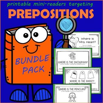 Mini-Readers Targeting Prepositions Bundle Pack