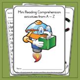 Mini Reading Comprehension Activities