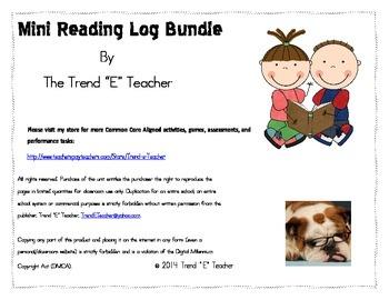 Mini-Reading Log Unit Bundle