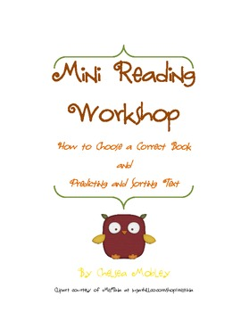 Mini Reading Workshop- A Two Day Lesson on Literacy Skills
