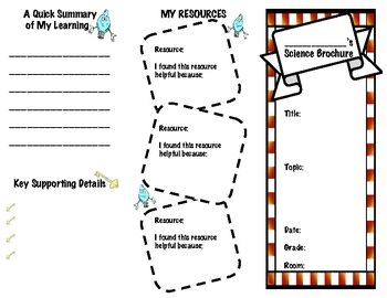 Mini Report: Simple Science Trifold (Helps Kids Share New Concepts)