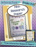 Mini-Research Paper ~ Interactive Research Papers, Lesson 1 ~Common Core Writing