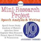 Mini-Research Project, Speech Analysis, Writing and Presentation