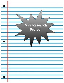 Mini Research Project Task Card and Template