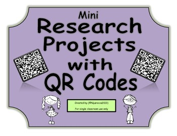 Mini Research Projects with QR Codes