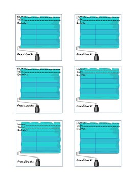 Mini-Rubrics for Art Projects - PRINT ON STICKY NOTES !!!