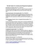 Mini Rubrics for Student CR Evaluation