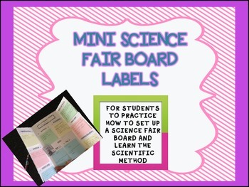 Mini Science Fair Board Labels to teach the Scientific Method *Freebie*