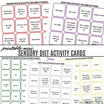 Mini Sensory Diet Activity Cards