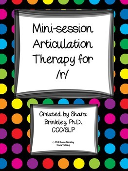 Mini Session Articulation Therapy for R