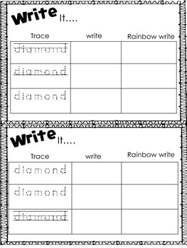 Mini Shape Book: Diamond