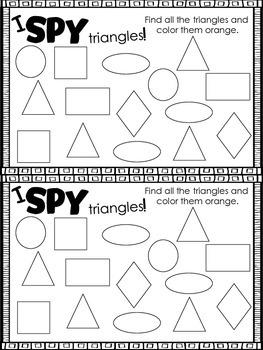 Mini Shape Book: triangle