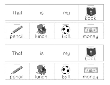 Mini Sight Word Booklet - that, is, my