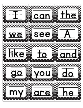 Mini Sight Word Cards Sample