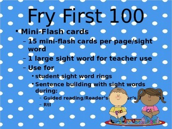 Mini-Sight Word Flashcards