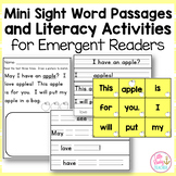 Mini Sight Word Passages