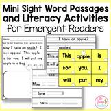 Mini Sight Word Passages