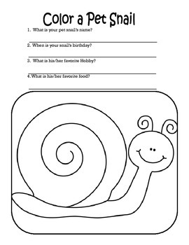 Mini Snail Thematic Unit