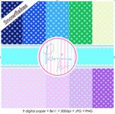 Digital Papers: Mini Snowflakes Pattern