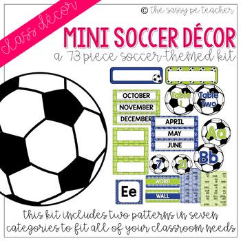 Mini-Soccer Classroom Decor Pack