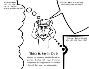 Mini Social Skills Lesson - Think It, Say It, Do It