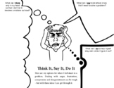 Mini Social Skills Lesson - Think It, Say It, Do It