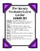Mini Society Vocabulary Cootie Catcher (Fortune Teller)