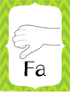 Mini Solfege Posters with Curwen Hand Signs (Music Decor /