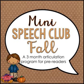 Mini Speech Club Fall