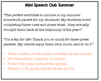 Mini Speech Club Summer
