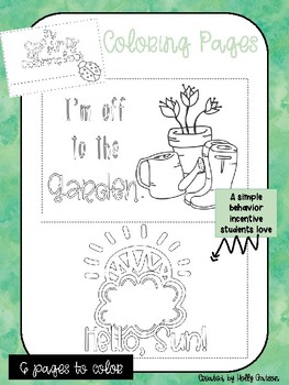Mini Spring Coloring Book