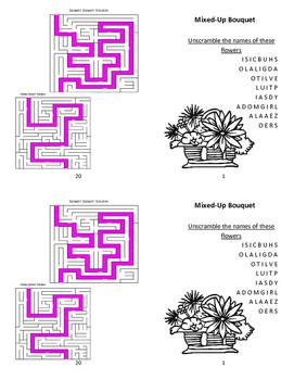 Mini Spring Garden Activity Booklet