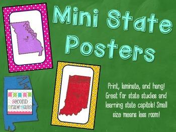 Mini State Posters