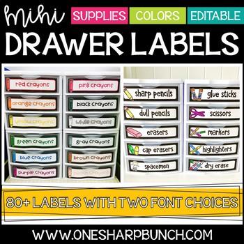Mini Sterilite Drawer Labels