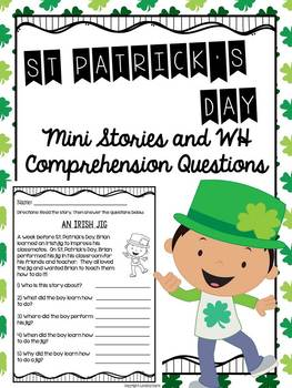 Mini Stories and WH Comprehension Questions BUNDLE