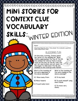 Mini Stories for Context Clue Vocabulary Skills: Winter Edition