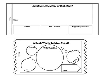 Mini Story Element Graphic Organizers