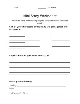Mini-Story Writing Project