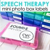 Speech Therapy Organization | Photo Storage Box Labels