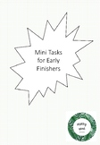 Mini Tasks for Early Finishers: Support Creative Thinking