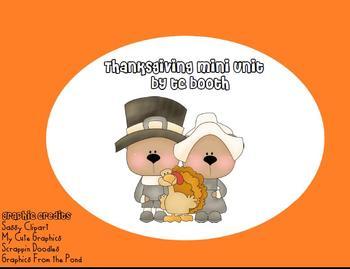 Mini Thanksgiving Unit
