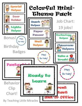 Kids Job Chart, Behavior Chart, and Birthday Badges!