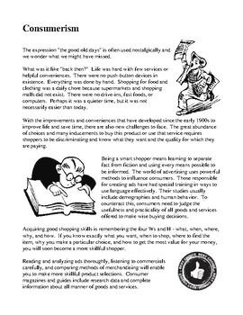 Mini Themes - Consumerism and Test Your Consumerism