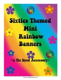 Mini Tie-Dye Banners With Alphabet Letters Galore