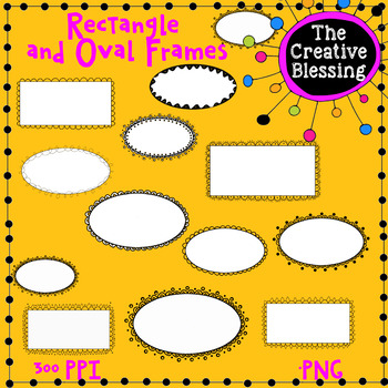 Oval and Rectangle Clip Art Border Frames