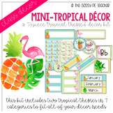 Mini-Tropical Classroom Decor Pack